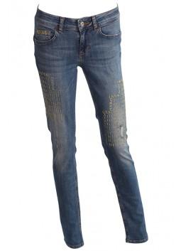 Jeans Liu Jo W16162D3400 aspect usé