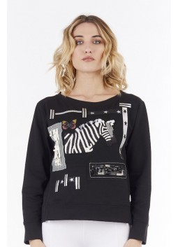 Pull noir Save the Queen 6001