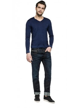 Pull Replay UK1410 bleu