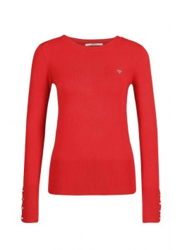 Pull rouge Guess W84R95