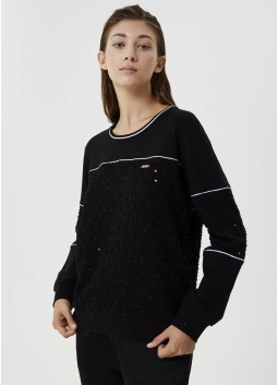 Sweat avec broderies Liu Jo TF0147