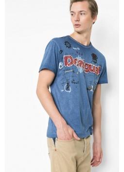 T Shirt Desigual 61T14B2 5128 Twilight Blue