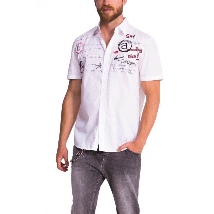 chemise desigual julio 51c12g5 chemise homme disponible. Black Bedroom Furniture Sets. Home Design Ideas