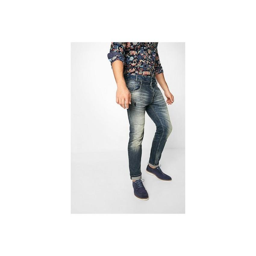 jeans homme desigual avec double ceinture 72d18b8 elegro. Black Bedroom Furniture Sets. Home Design Ideas