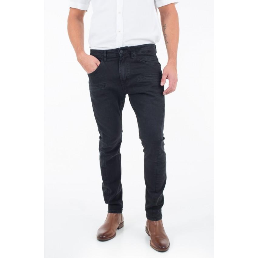 b836b46efc9 Pantalon jeans noir homme Guess M74A21 D2RE1