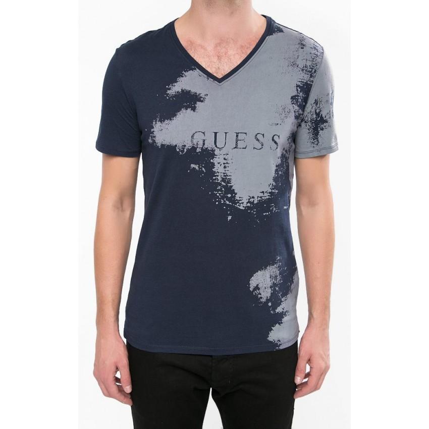 3124541d48ee Tshirt Guess homme manches courtes imprimé gris W64I47K4Z30