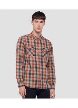 Chemise à carreaux Replay M4998C
