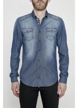 chemise demin délavée