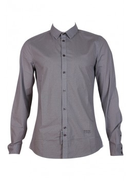 Chemise Guess M64H15W7VX0 Micro All Over gris