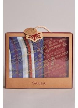 Coffret Pack foulard + portefeuille Salsa