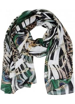 Foulard animalier Guess en soie