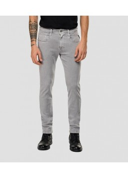 Jeans hyperflex Replay gris clair