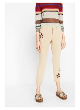 Pantalon broderie florale  72P2YG9