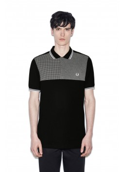 Polo Fred Perry Houndstooth Panel Black