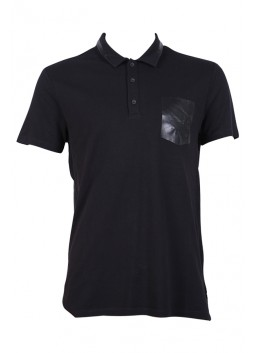 Polo GUESS homme M64P09K4Y60 noir