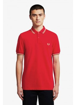 Polo rouge Fred Perry M3600
