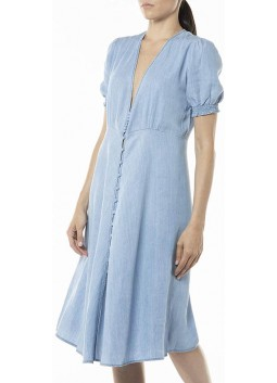 Robe midi en denim Replay W9638