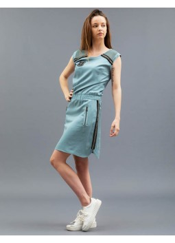 Robe Military bleue Huit Six Sept E8ROD4