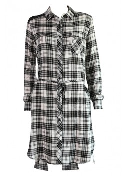 Robe tunique Liu Jo W66166T9063 London check