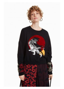 Sweat Tiger Desigual 18WWSK14