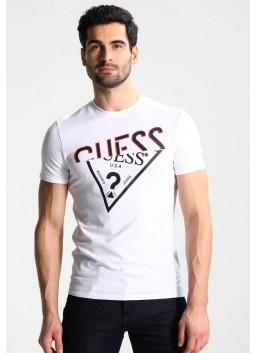 T shirt blanc Guess M82I17J1300A000