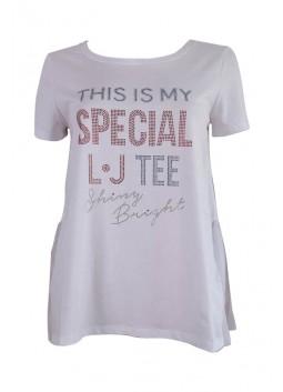 T shirt blanc Liu Jo W18306