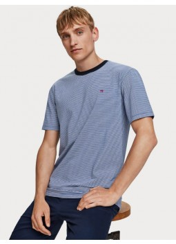 T-shirt bleu Scotch and Soda 152174