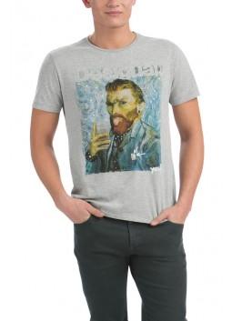 T Shirt Desigual 56T14A7 gris chiné