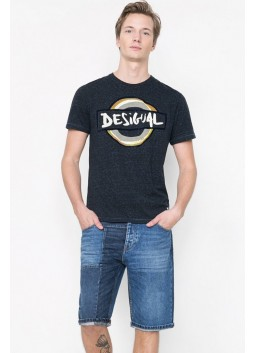 T Shirt Desigual 61T14C8 5117 Negro Iris