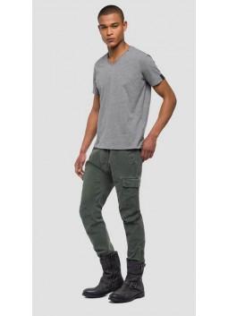 T-shirt gris chiné Replay M3591