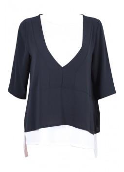 T Shirt La Fée Maraboutée FA5690 noir et blanc