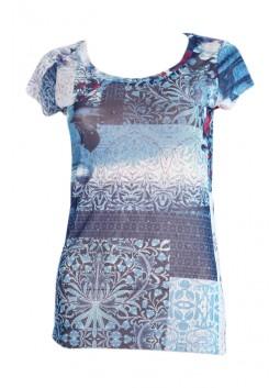 T Shirt LIU JO F16047J7688 bleu