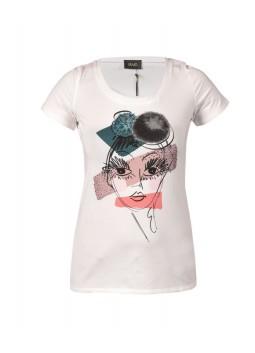 T Shirt Liu Jo P66017J7803 blanc