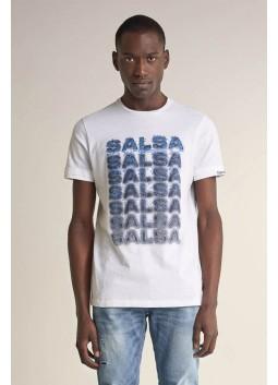 T-shirt à motif Salsa 124706