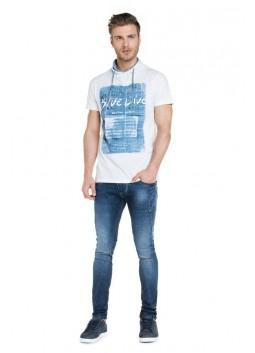 T Shirt Salsa 114451 blanc