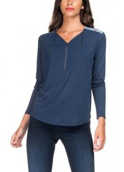 T Shirt Salsa 117431 8033 bleu