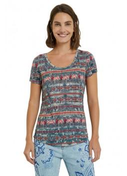 T-shirt Santorini Desigual 21SWTK74