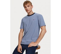 T-shirt bleu Scotch and Soda 152274
