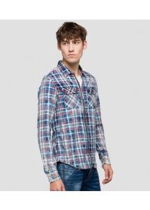 Chemise à carreaux Replay M4930A