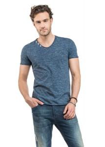 T Shirt Salsa 114417 bleu chin�