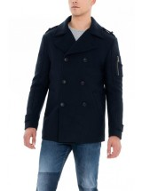 manteau drap de laine salsa 118152