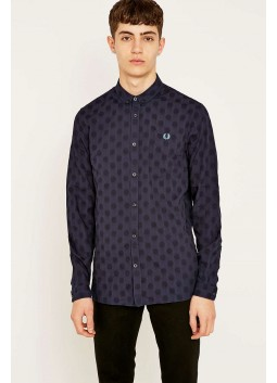 Chemise Fred Perry Jacquard Polka Dot