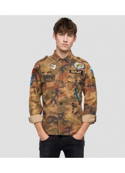 Chemise homme camouflage Replay M4984