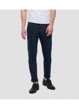 Chino Zeumar bleu Replay M9627L