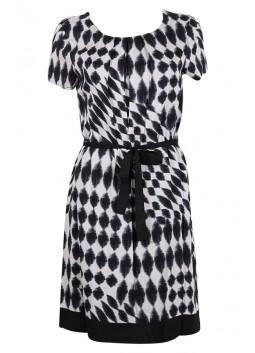 Robe La Fée Maraboutée FA7434 noir et blanche