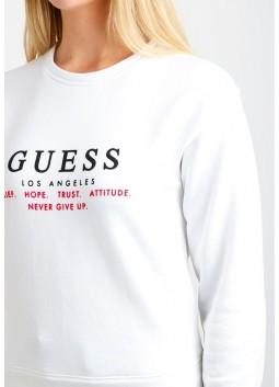 Sweatshirt Mabel blanc Guess W84Q37