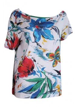 T Shirt Liu Jo F16085J7773  blanc