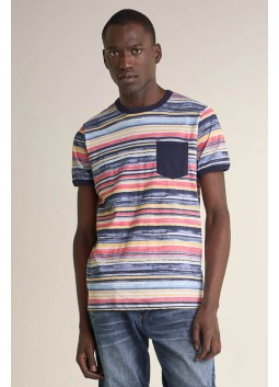 T-shirt rayé Salsa 124701