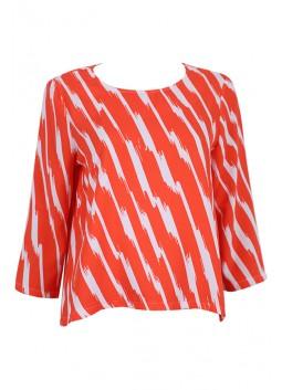 Top La Fée Maraboutée FA7124 orange et blanc