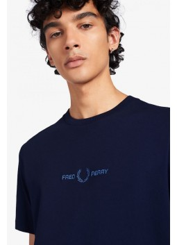 Tshirt brodé Fred Perry